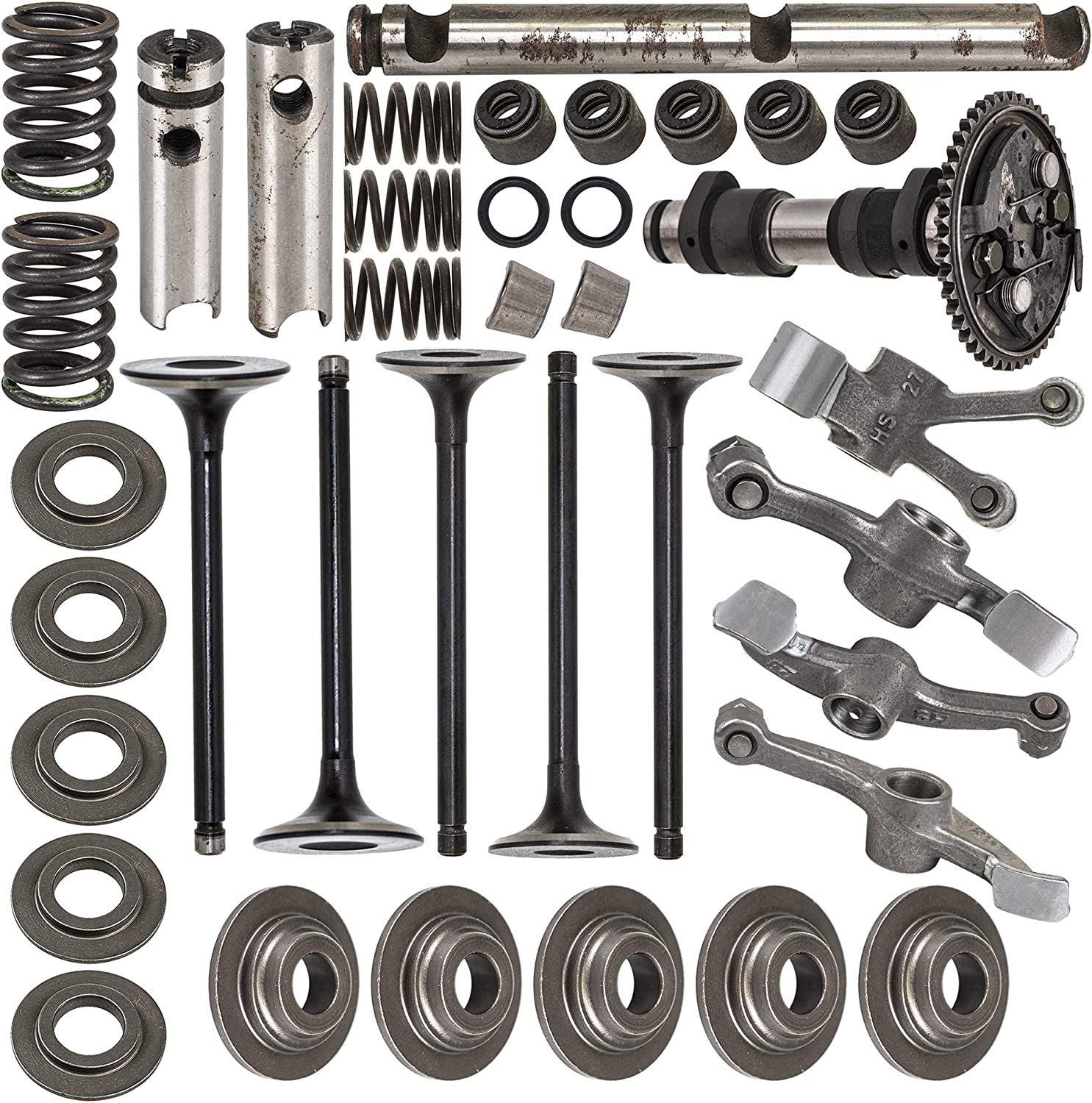 NICHE 660cc Cylinder Head Rebuild Kit Valve Camshaft Rocker Arm For 2002-2008 Yamaha Grizzly Rhino 660