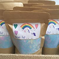 Unicorn Bath Dust, Foaming Bath Bomb Dust, Resealable Pouch, Great For Kids