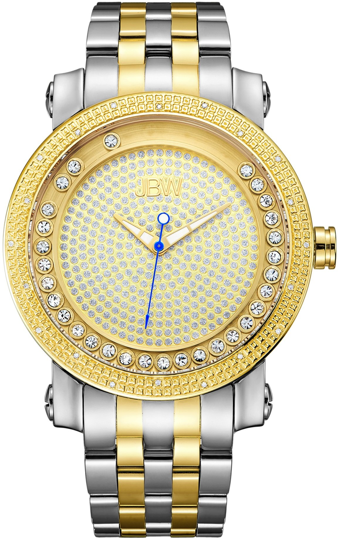 """Jbw Men's J6338D """"Hendrix"""" Floating Crystals And Multi-Function Diamond Watch 6"""