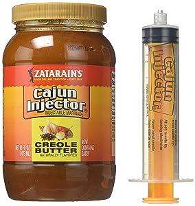 Zatarain's Cajun Injectors Creole Butter Recipe Injectable Marinade with Injector, 16 oz