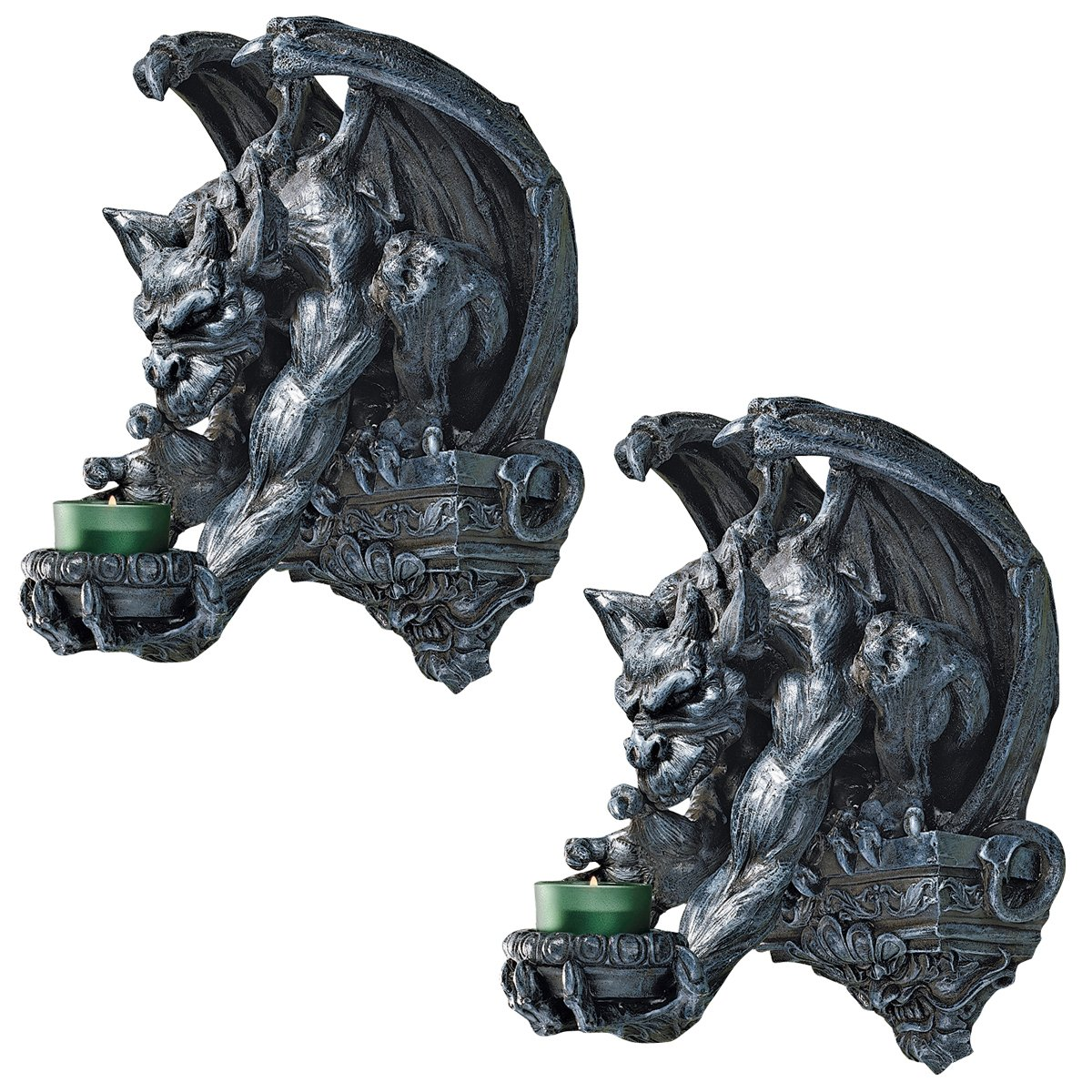 Design Toscano Whitechapel Manor Gargoyle Wall Sconce (Set of 2) by Design Toscano
