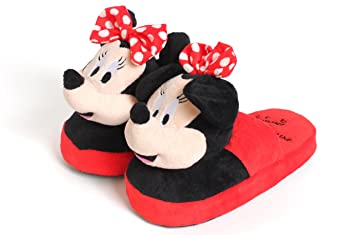 Disney Stompeez Minnie Mouse Kids Slippers Fun Safe Soft Comfy Walk Stomp  Jump Child Gift As