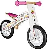 BIKESTAR® 25.4cm (10 pouces) Bois Vélo Draisienne pour enfants ★ Couleur Blanc Design Princesse
