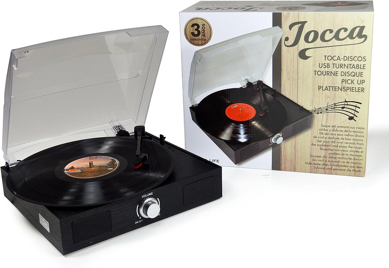 Jocca 1157 - Tocadiscos con conexión USB para digitalizar vinilos ...