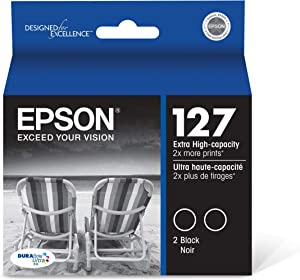 Epson T127120-D2 DURABrite Ultra Black Dual Pack Extra High Capacity Cartridge Ink,Black Multipack