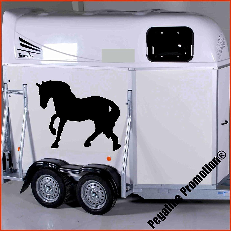 trabendes Pferd Modell 1 Aufkleber Anhänger Pferd Anhänger ca. 80x60cm Pegatina Promotion ®
