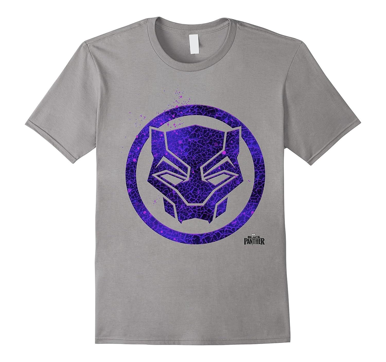 Marvel Black Panther Movie Purple Splatter Icon T-Shirt-RT ...