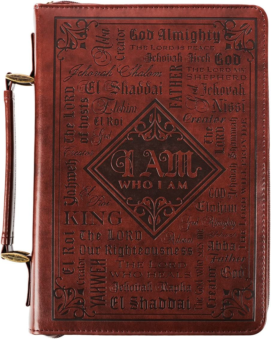 Names of God in Brown Luxleather Bible Cover (Medium)