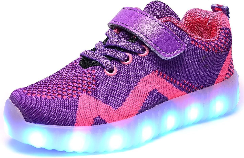 edv0d2v266 Kids LED Shoes Light Up Sneaker USB Charging Fashion Gift