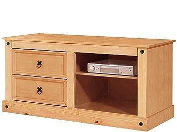 Miguel Tv Bank Lowboard Fernsehtisch Fernsehschrank Holz Landhaus