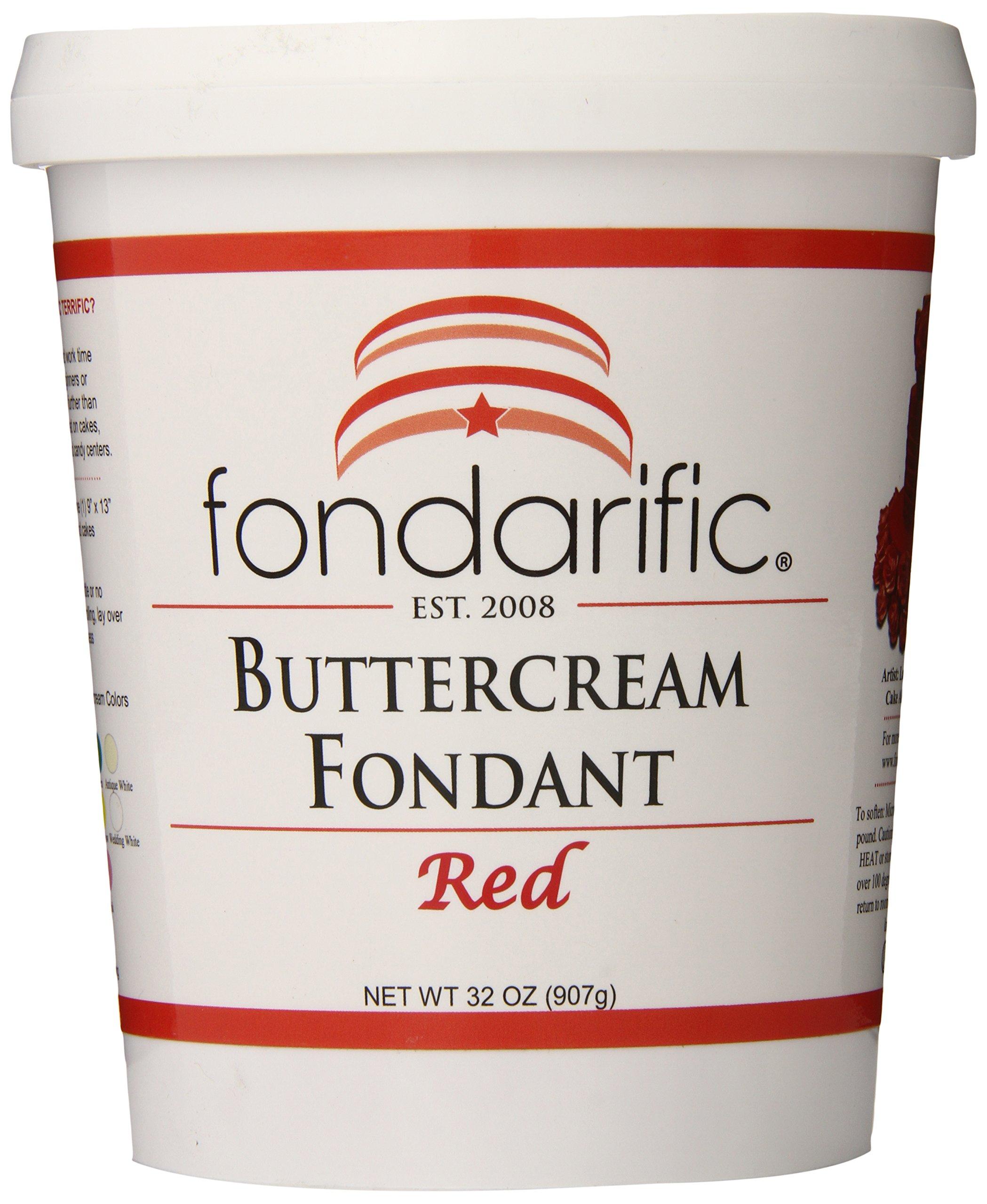 Fondarific Buttercream Red Fondant, 2-Pounds by Fondarific