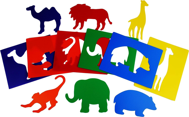 Henbea- Plantillas con Formas de Animales del Zoo, Multicolor (756 ...