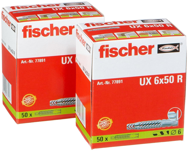 Envase de 25 ud. Taco nylon UX 8x50 R S//15 FISCHER 094762