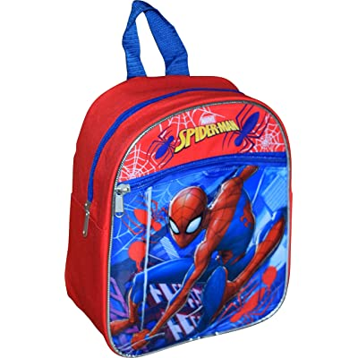 """Marvel Spider-Man 10"""" Mini Backpack With Heat Seal 3D Character Logos 
