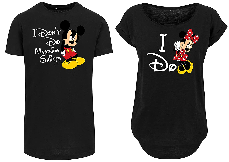 Urban Kingz Pareja 2X Camiseta Oversize Long T-Shirt Modelo I Dont DO  Matching Shirts I DO - Mickey   Minnie para Hombre   Mujer en Colores  Diferentes  ... c0c40bb29f97e