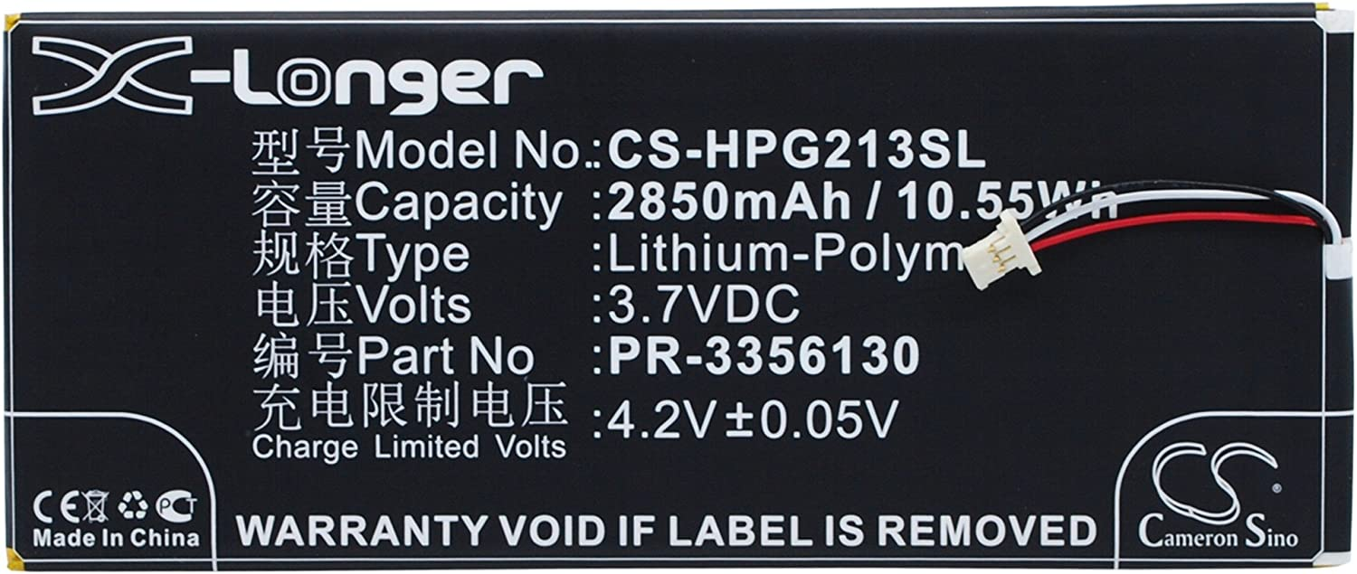 Rechargeable Battery for HP Slate 7 G2 1311, Slate 7 G2 1315 Replacement for BLU PR-3356130