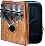Moozica 17 Keys Kalimba Thumb Piano, Tone Wood Marimba with Professional Kalimba Case and Learning Instruction (Mahogany…