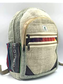 100% Himalayan Pure Hemp Multi Pocket Backpack with Laptop Sleeve