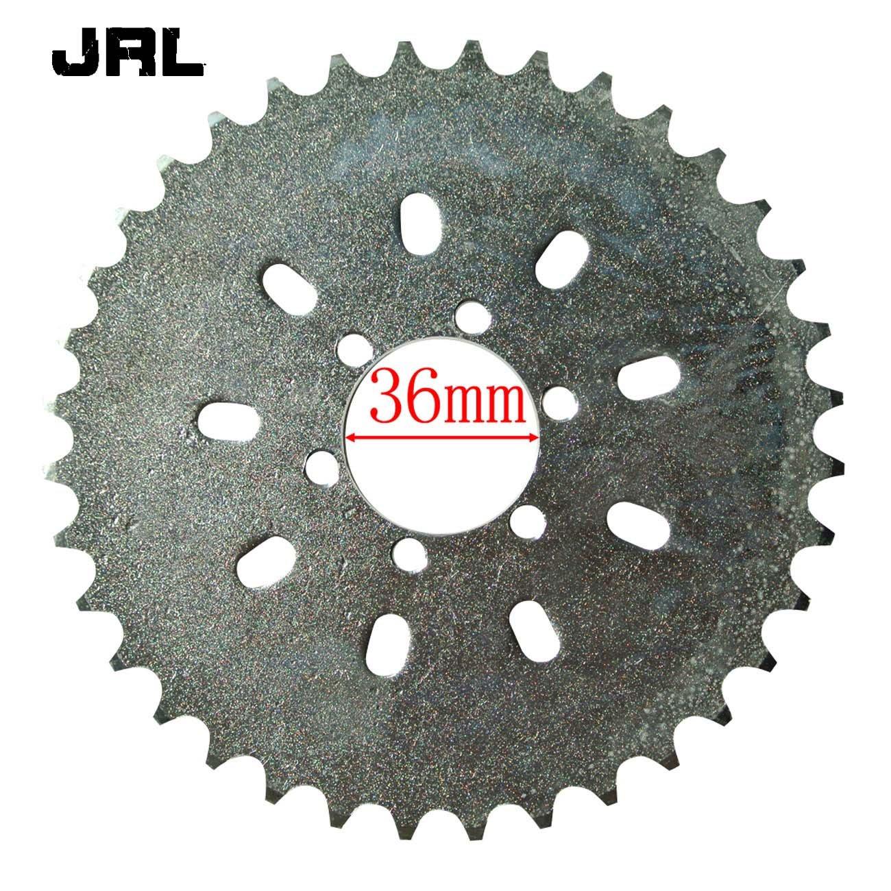 JRL 6 Holes 36 Teeth Sprocket/&Sprocket Mount Kit/&Gear For 49//66//80cc Motorized Bike