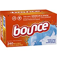 240CT Bounce Fresh Linen Scented Fabric Softener Dryer Sheets
