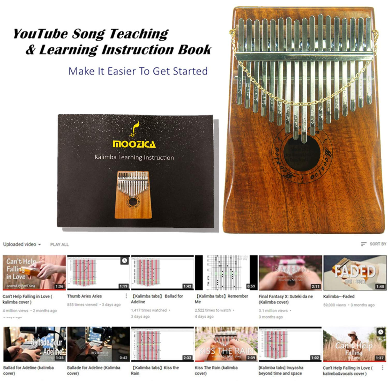 Moozica 17 Keys Kalimba Marimba, Professional Thumb Piano Sanza Mbira Musical Instrument Gift (Koa - K17K) by Moozica (Image #7)