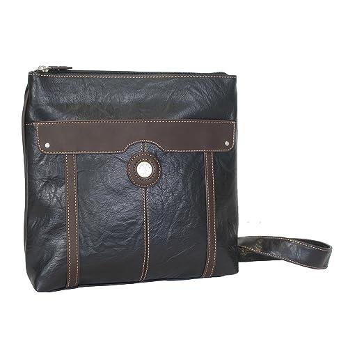 Mouflon Essentials Black Brown Crossbody Handbag  Amazon.ca  Shoes    Handbags 5cee5b9ab4965