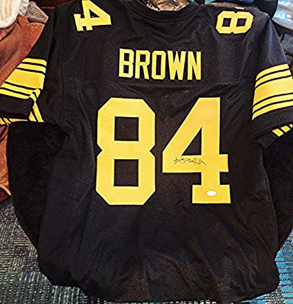 ee80639fa1b Image Unavailable. Image not available for. Color: Antonio Brown  Autographed Signed Auto Autographed Signed Black Steelers Jersey  Memorabilia JSA COA ...
