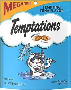 TEMPTATIONS Classic Crunchy and Soft Cat Treats, 6.3 oz.