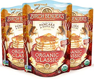 product image for Birch Benders Organic Pancake and Waffle Mix, Whole Grain, Classic, 48 oz (Pack of 3)