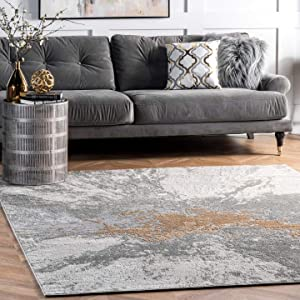 nuLOOM Cyn Abstract Area Rug, 8' x 10', Silver