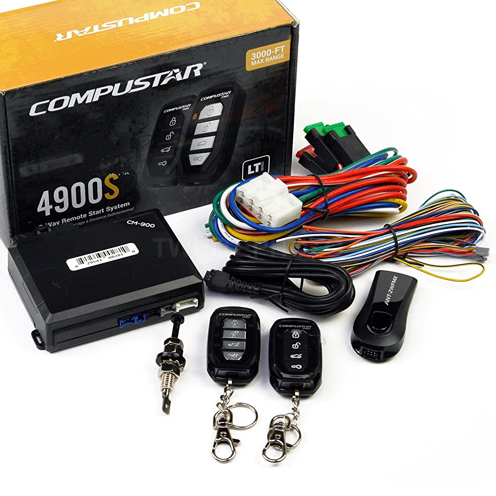 4. Compustar CS4900-S 2-way Remote Start and Keyless Entry System with 3000-ft Range