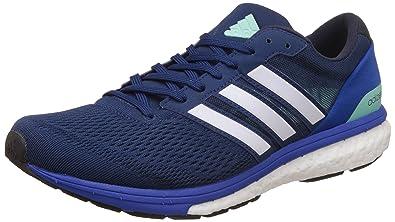 Adidas hombre 's adizero Boston 6, amplia mysblu, ntnavy y azul corriendo