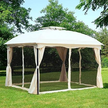 DNNAL - Carpa de jardín de doble techo exterior Canopy ...
