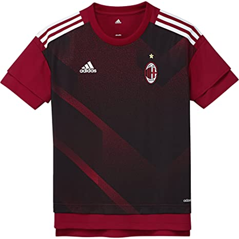low priced 960fb d7bba adidas ACM H Preshi Y AC Milan, Maglietta Bambino, Rosso (Rojvic Nero