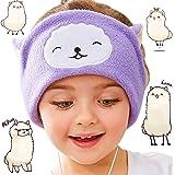 FIRIK Kids Headphones - Easy Adjustable Kids Costume Headband Silky Headphones for Children, Perfect for Travel and Home - Llama