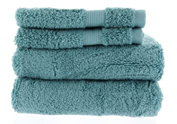 MiraBella Juego de toallas (Juego de 2 toallas de mano y 2 lavar ropa, Nilo azul: Amazon.es: Hogar