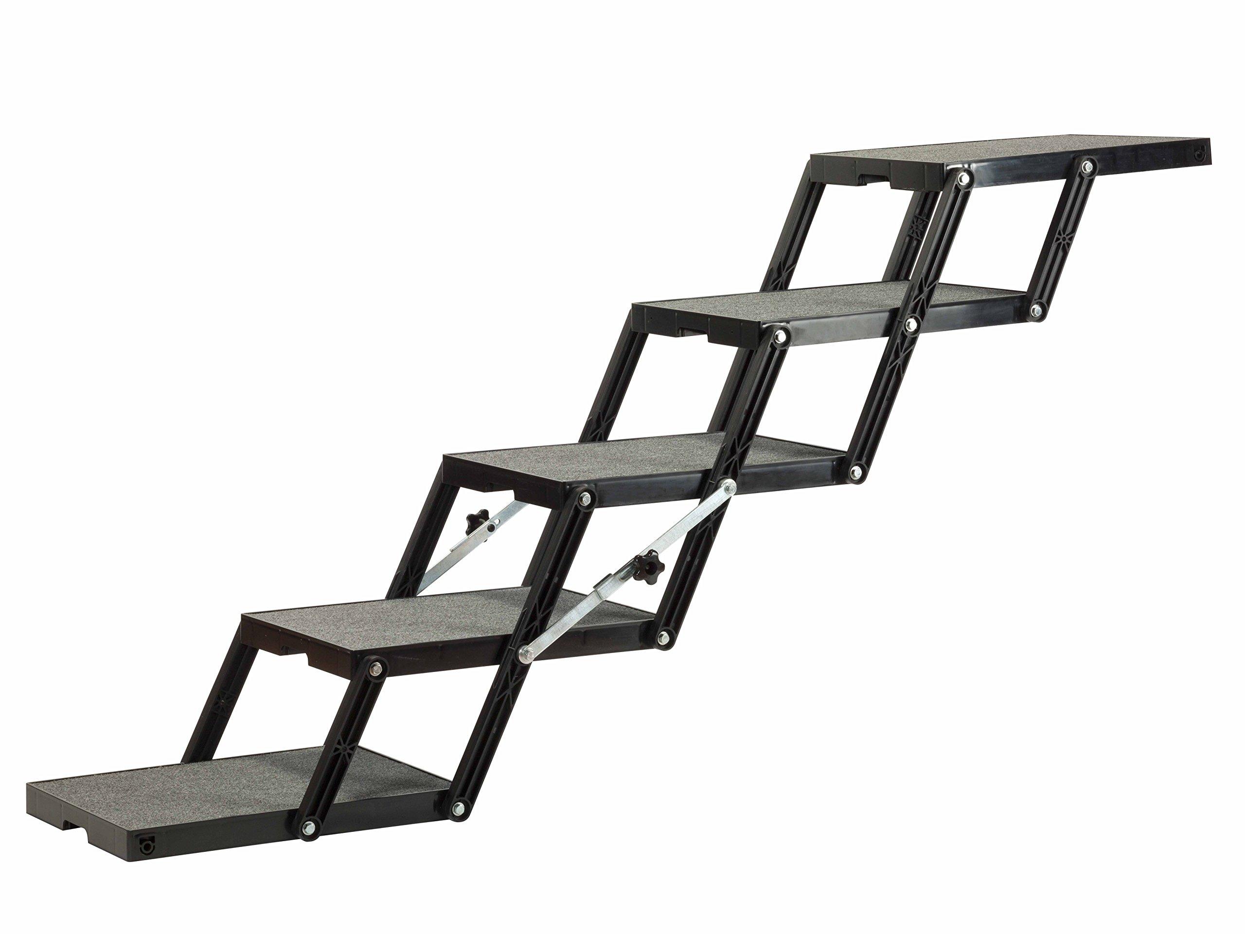 Pet Loader Light 16'' Platform, 5-Step with wheels