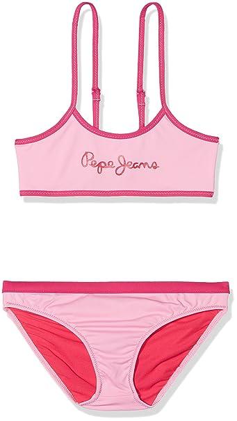 Pepe Jeans PGB10248, Traje de Baño Para Niñas, Rosa, 16 años ...