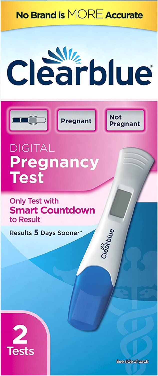 Clearblue Digital Pregnancy Test with Smart Countdown, 2 Count