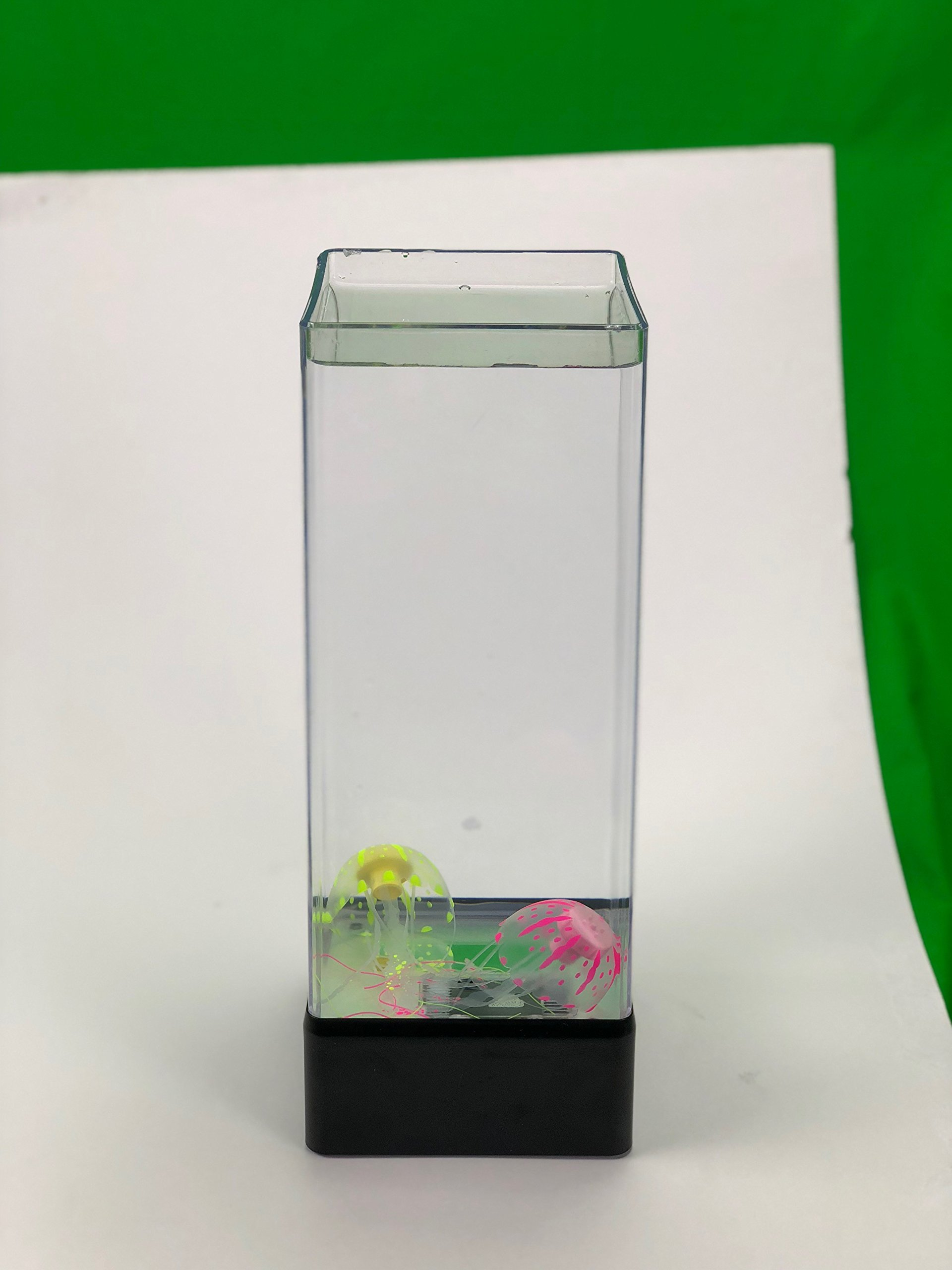 Jellyfish Aquarium Mood Lamp - 2 Artificial Jellyfish Swim Above 6 LED Lights, Perfect Night Light for Kids