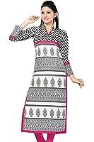 Long Long Fancy White Color Kurti for Women cotton kurta