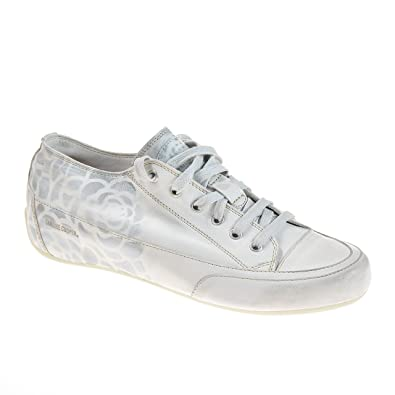 e49c021a9d256e Candice Cooper Damen Sneaker Leder Weiß Silber