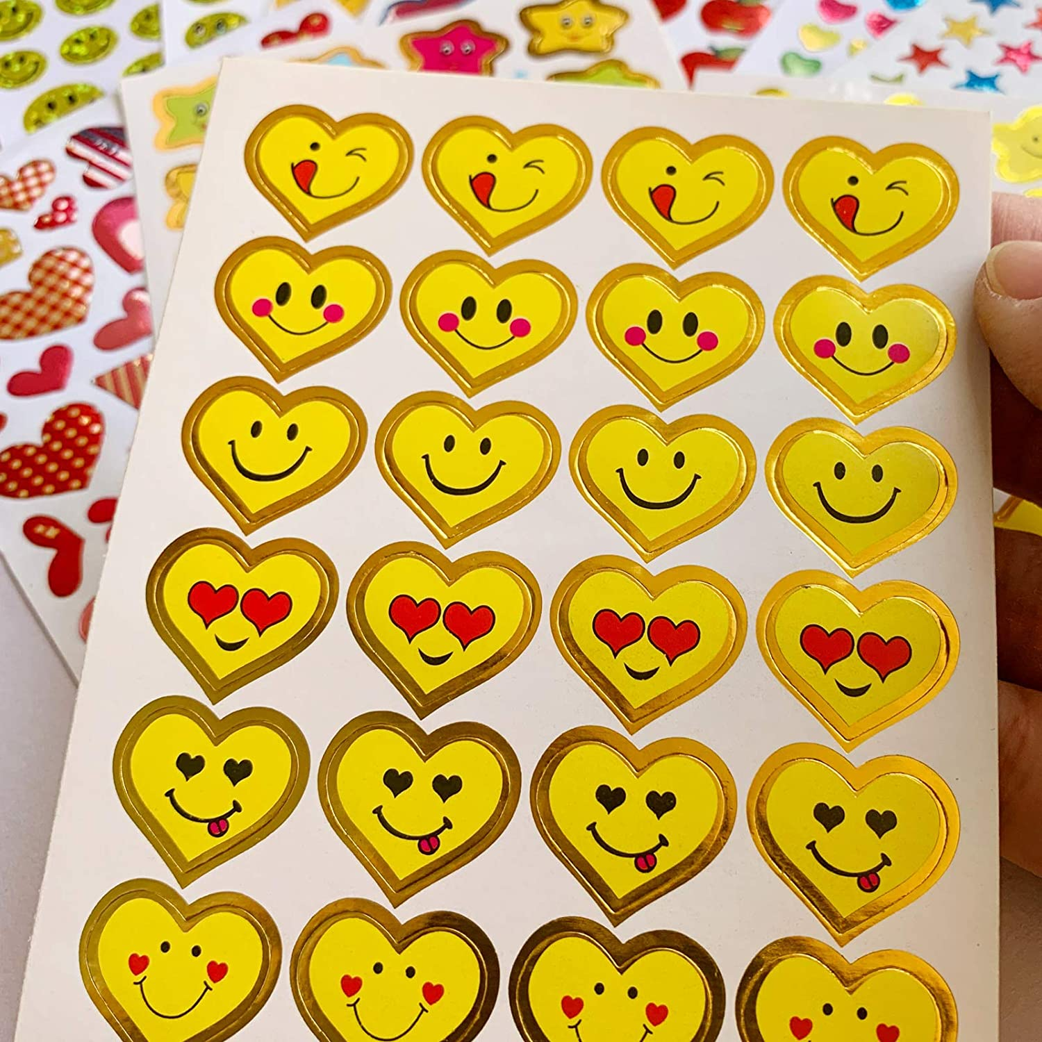 6120 Reward Stickers for Teachers Mega Value Pack,Teacher Stickers for Kids.Incentive Stickers for Teacher Supplies Classroom Supplies Including Smiley Face Stars and Emoji for Teachers Reward