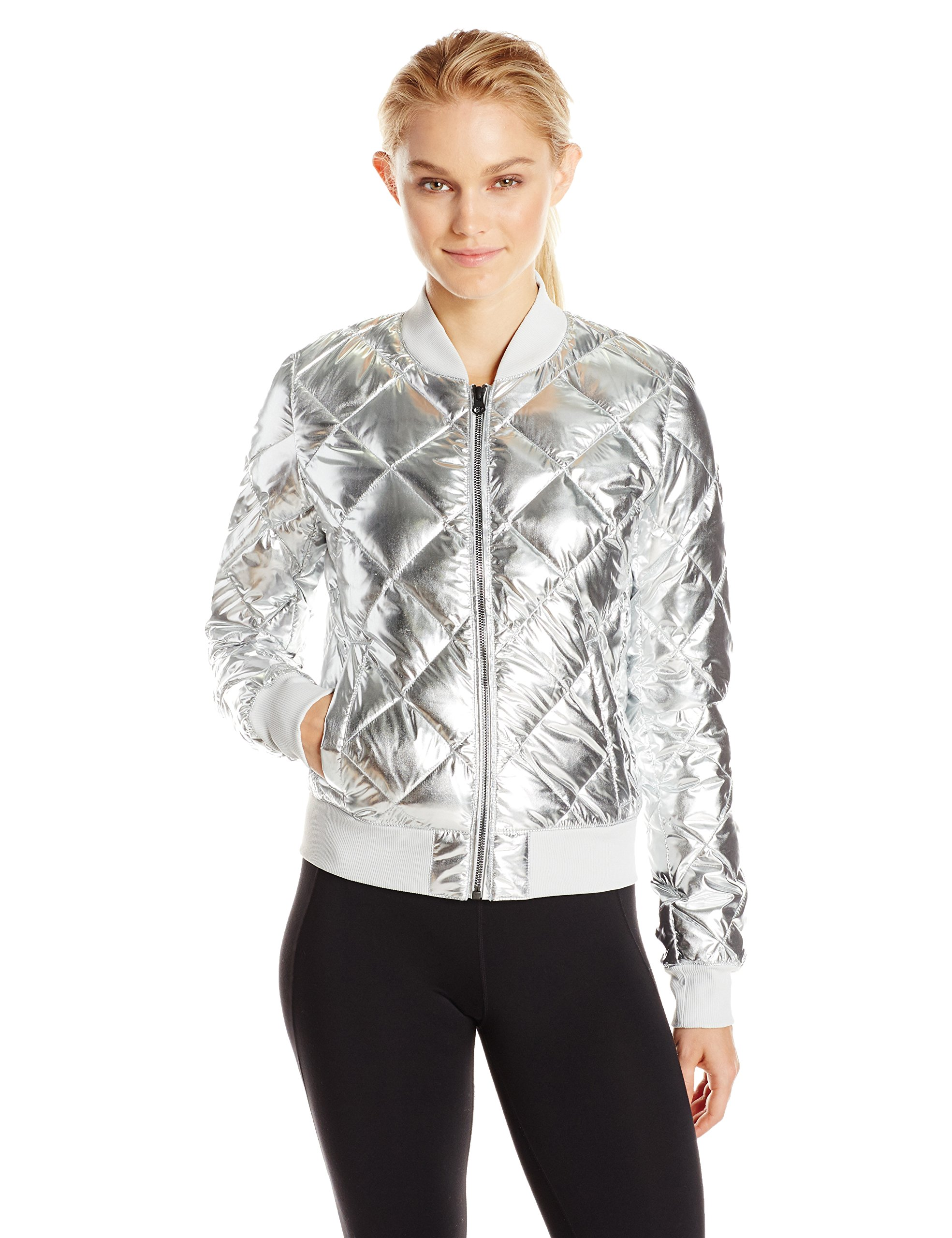 Alo Yoga Women's Idol Jacket, Silver, S by Alo Yoga