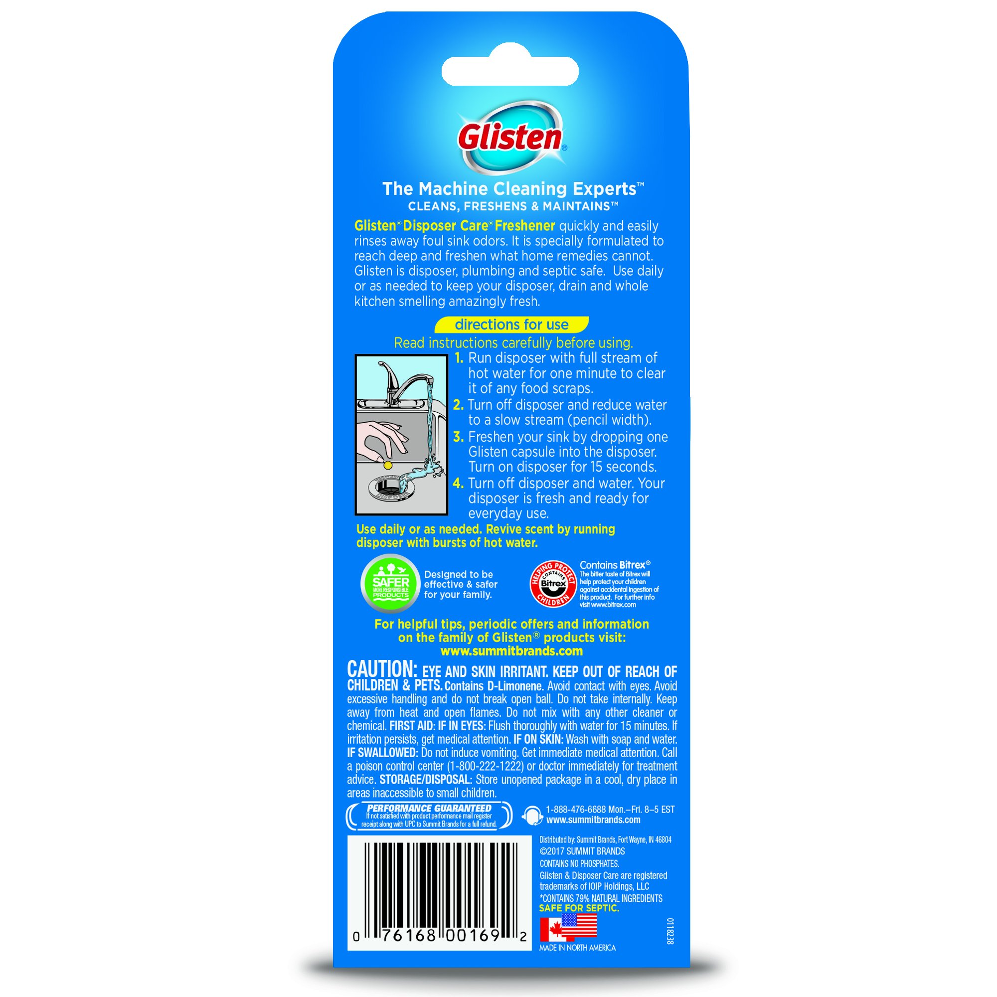 Glisten Disposer Care Freshener, Lemon Scent, 12 Pack, 120 Use by Glisten (Image #2)