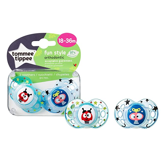 Tommee Tippee Closer to Nature - Chupetes, 2 unidades, diseño Fun ...