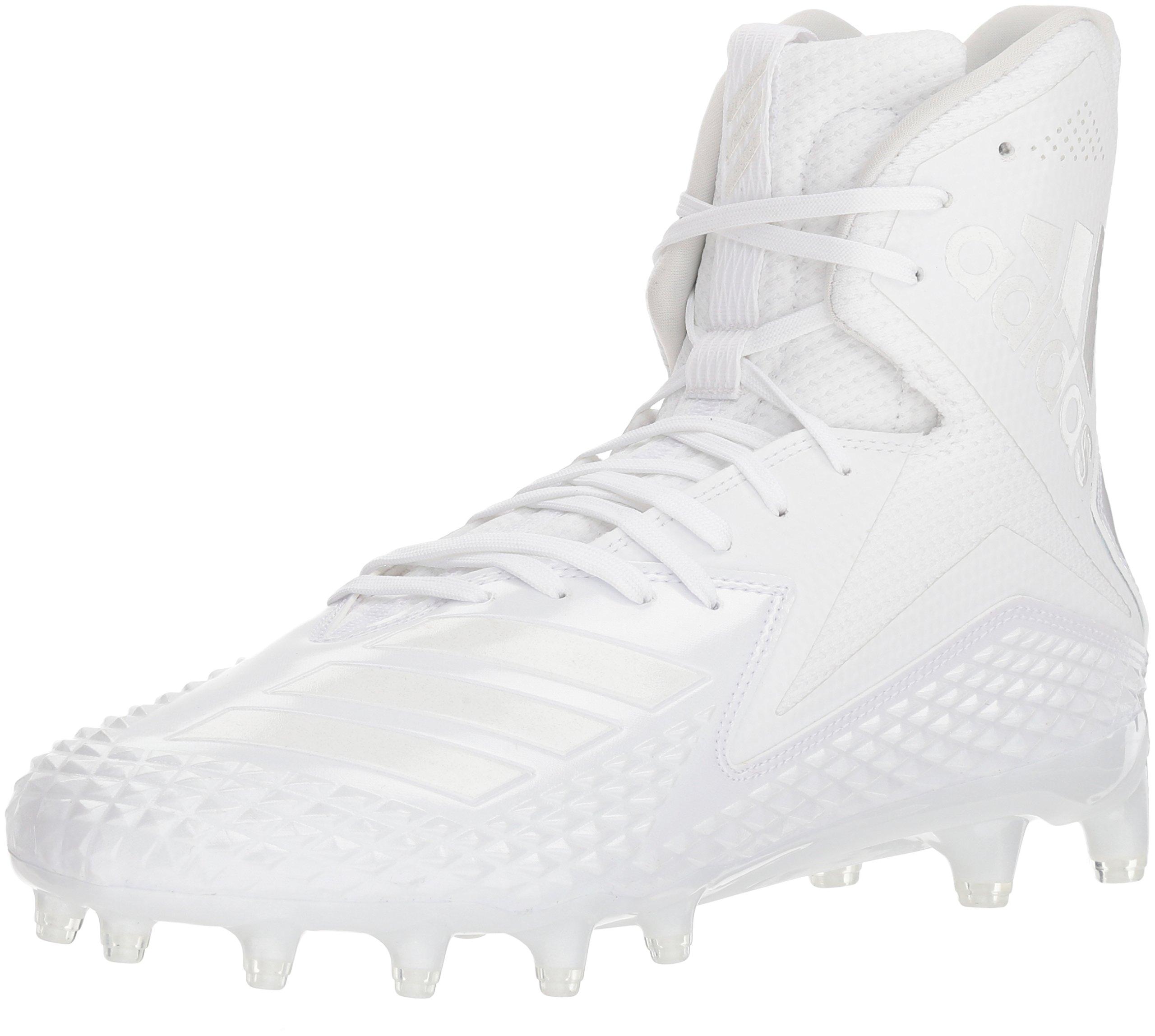 adidas Men's Freak X Carbon Mid Football Shoe, White/White/White, 10.5 M US by adidas