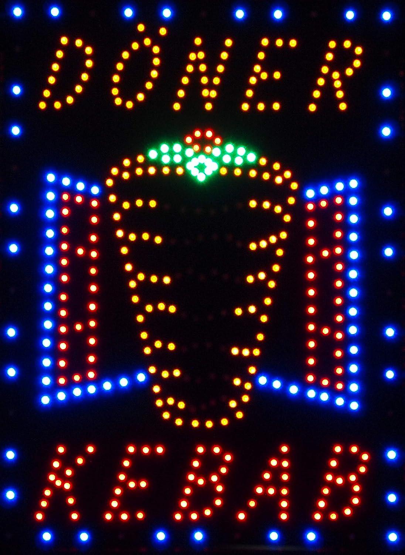 LED Schild D/öner Kebap Kebab Reklame Ladenschild Gesch/äft Leuchtschilder mit Kette D/öner-Schild Restaurant