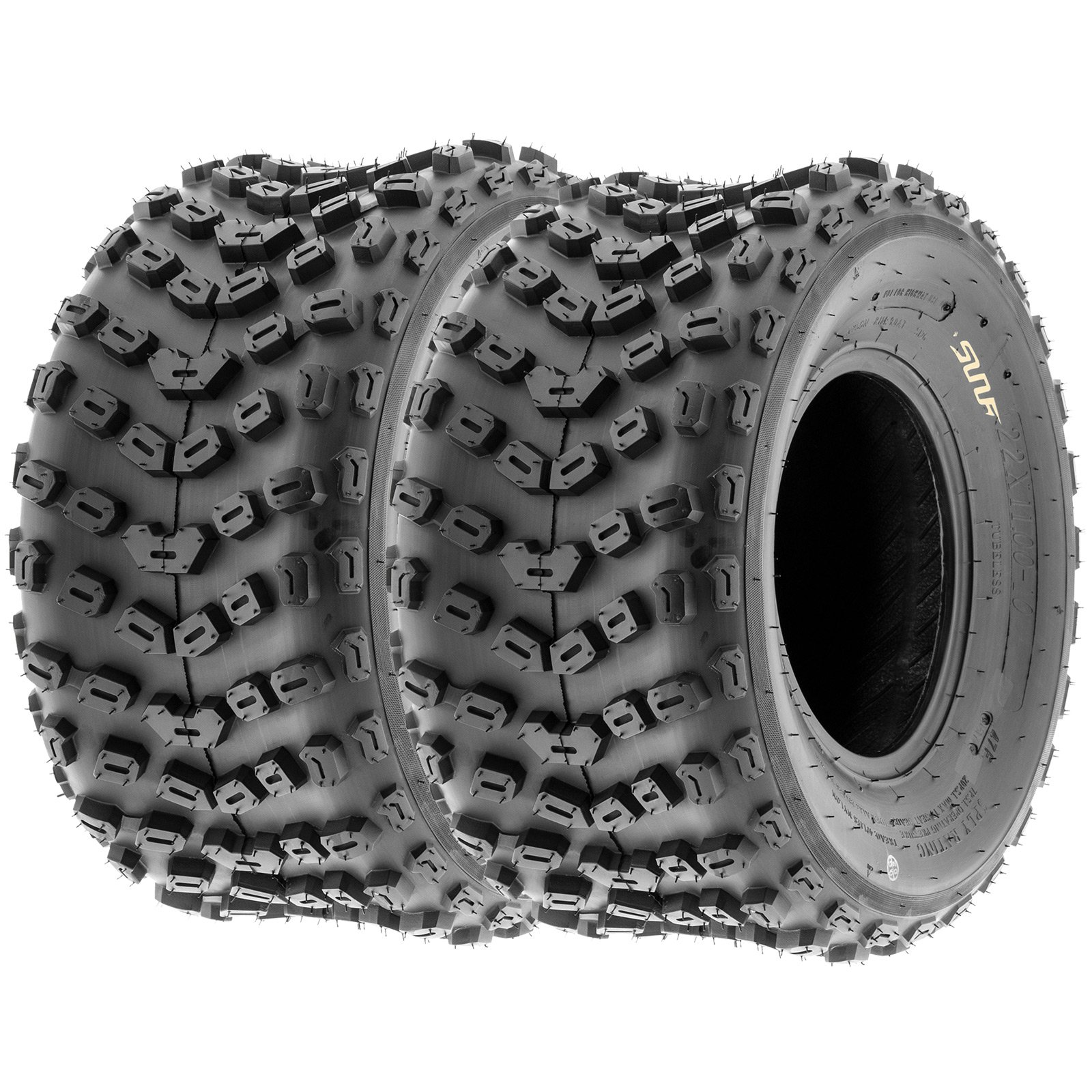 SunF ATV Dimple Knobby Sport Tires 22x11-10 22x11x10 4 PLY A005 (Set pair of 2)