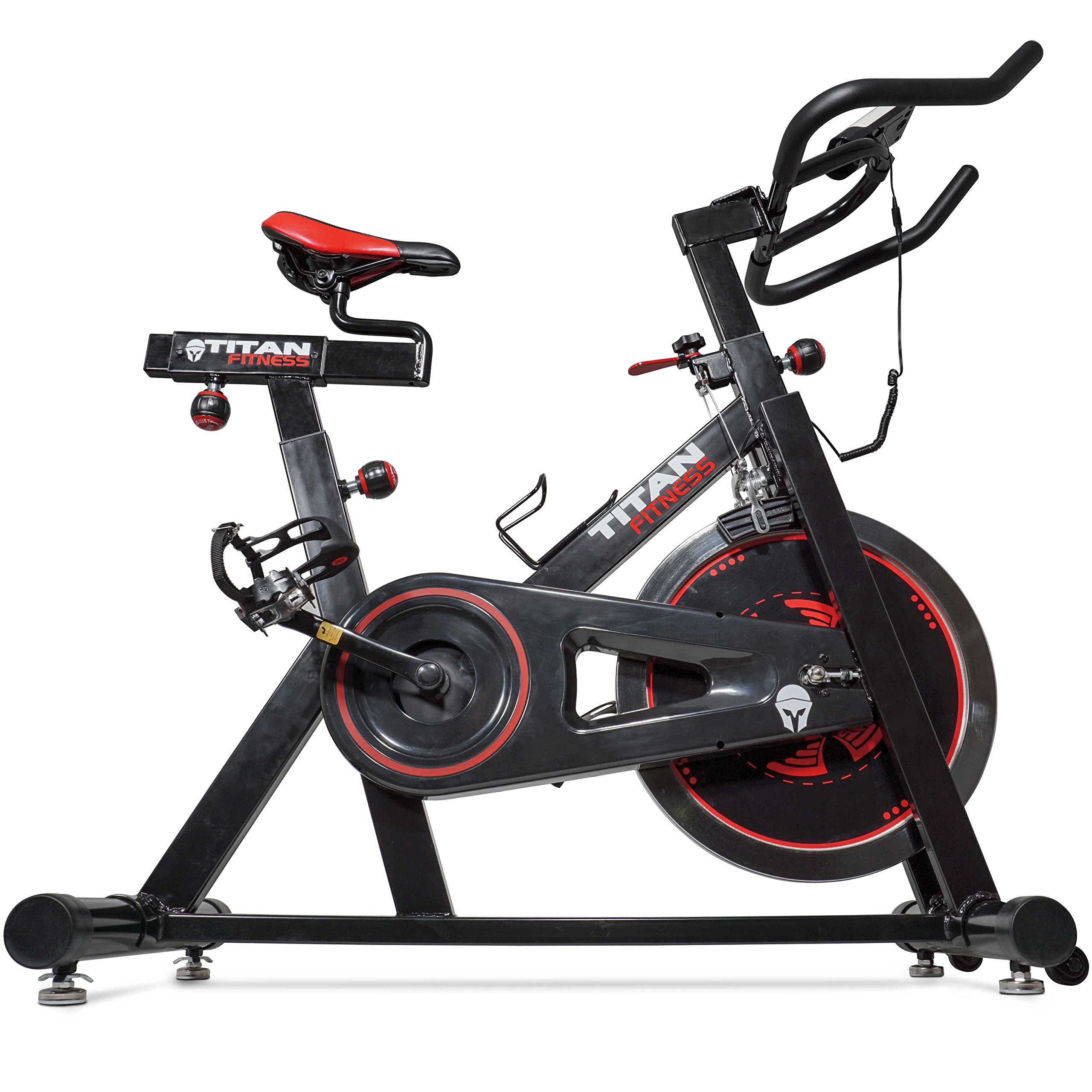 Titan Pro Indoor Exercise Bike w/ 40 lb Flywheel LCD Cycle Cardio Fitness by Titan Fitness